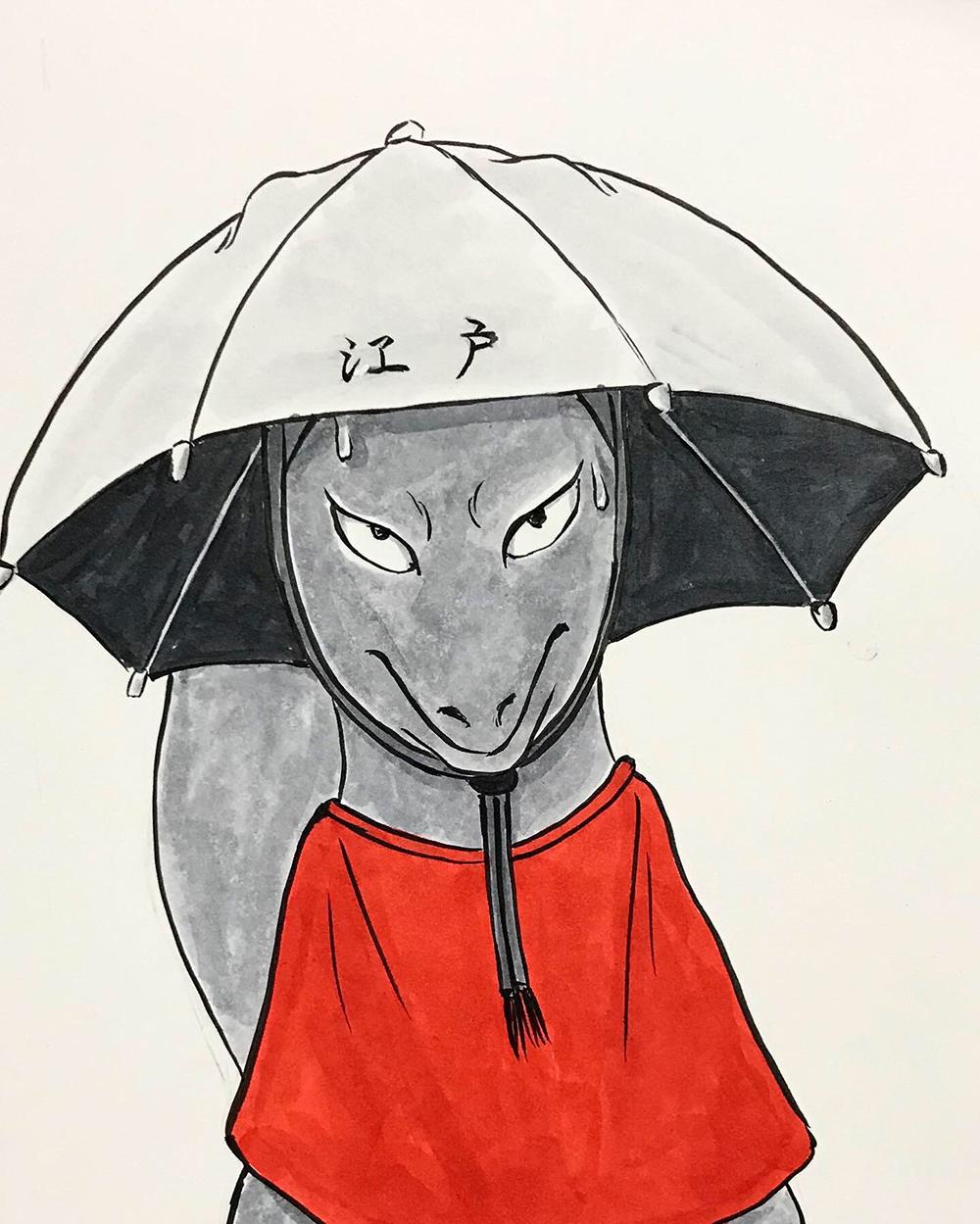おこんと江戸最新式の日傘4