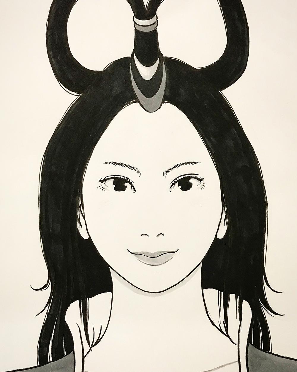 若き日の乙姫 OTOHIME