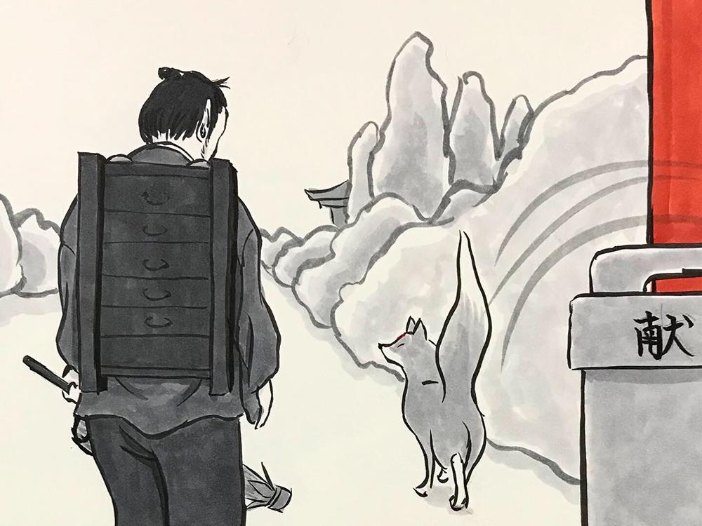 からすの黒兵衛登場3 KUBOBE3