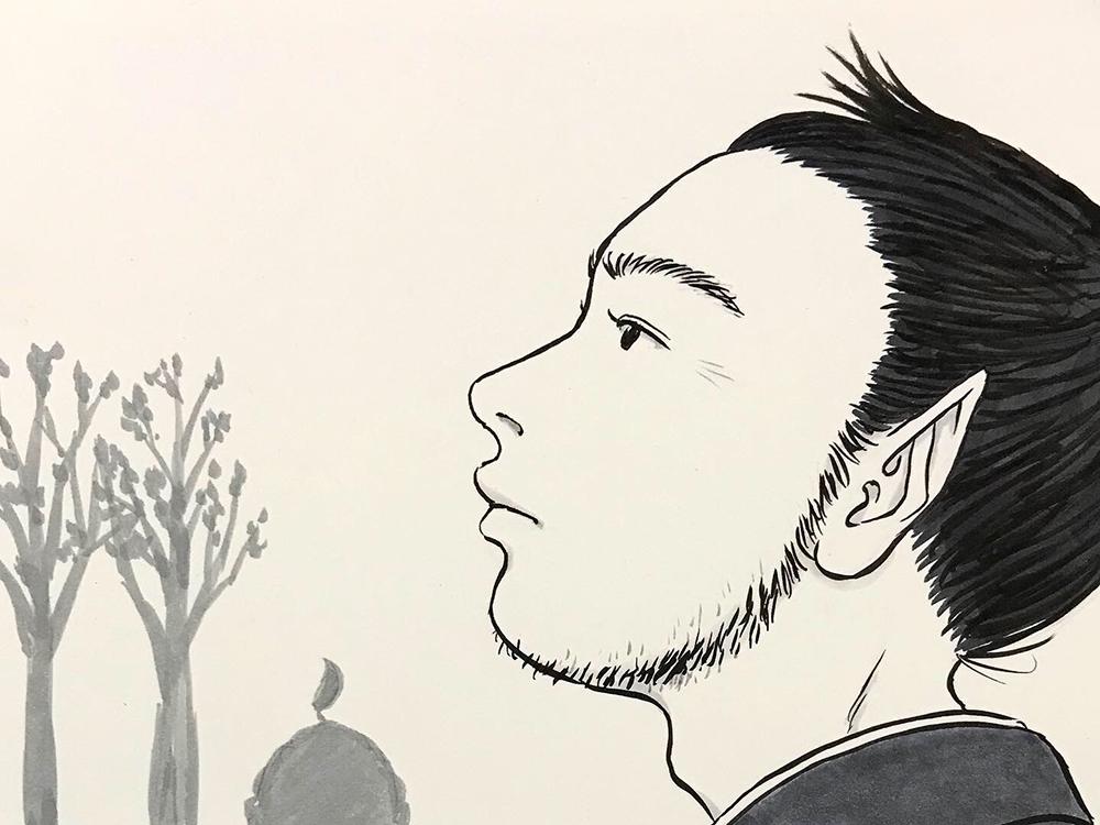 からすの黒兵衛登場4 KUBOBE4