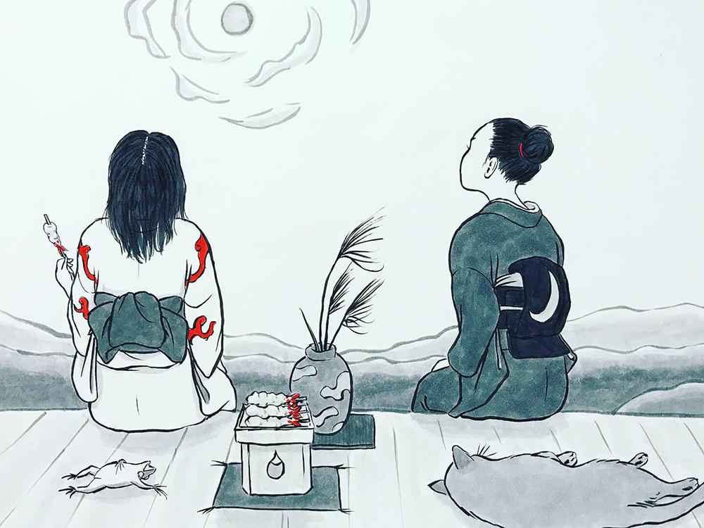 月代とおみよの中秋の名月 MEIGETSU3