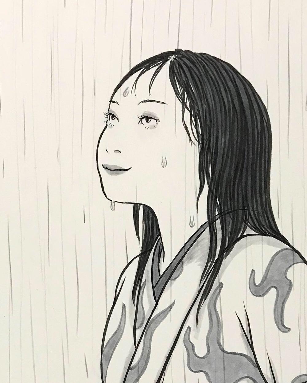 今日は雨の絵 AME1