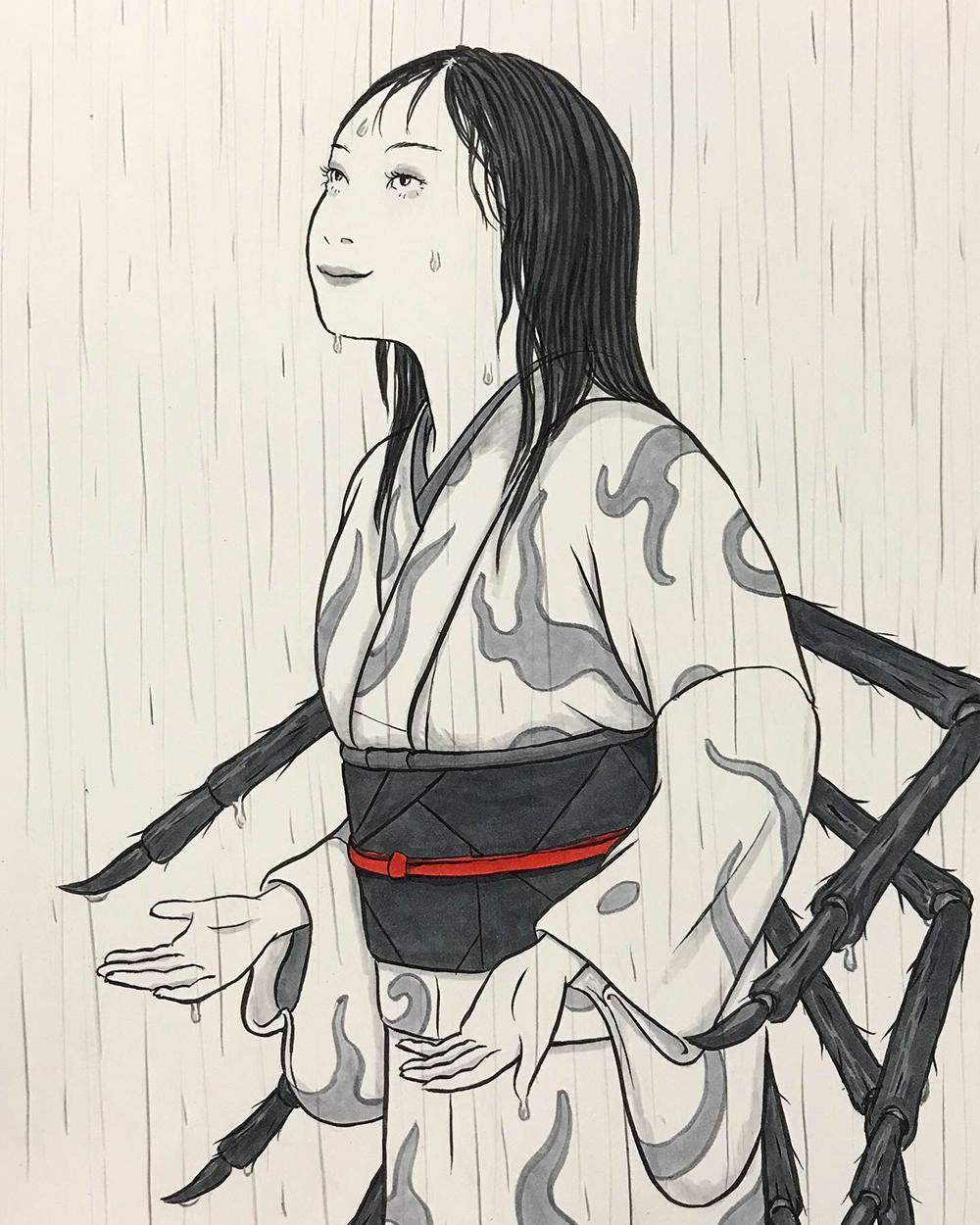 今日は雨の絵 AME2