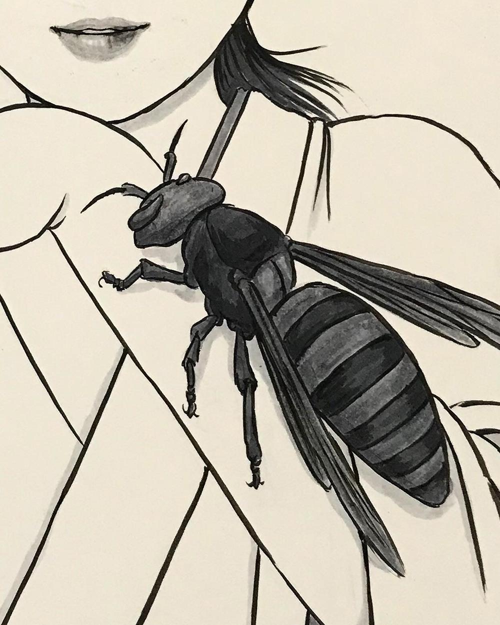 スズメバチ使いの女 SUZUMEBACHI1