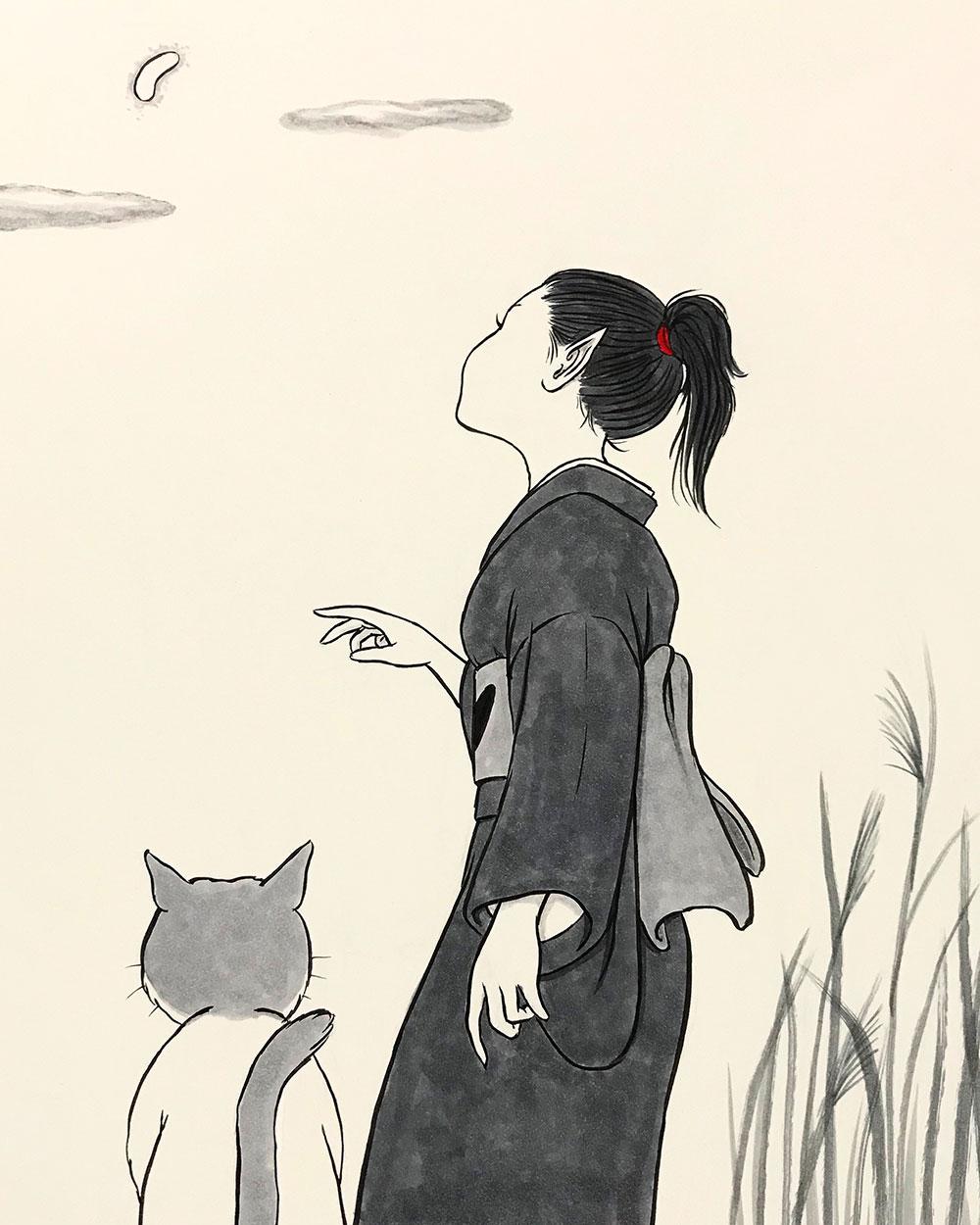 変なお月さま KARASU