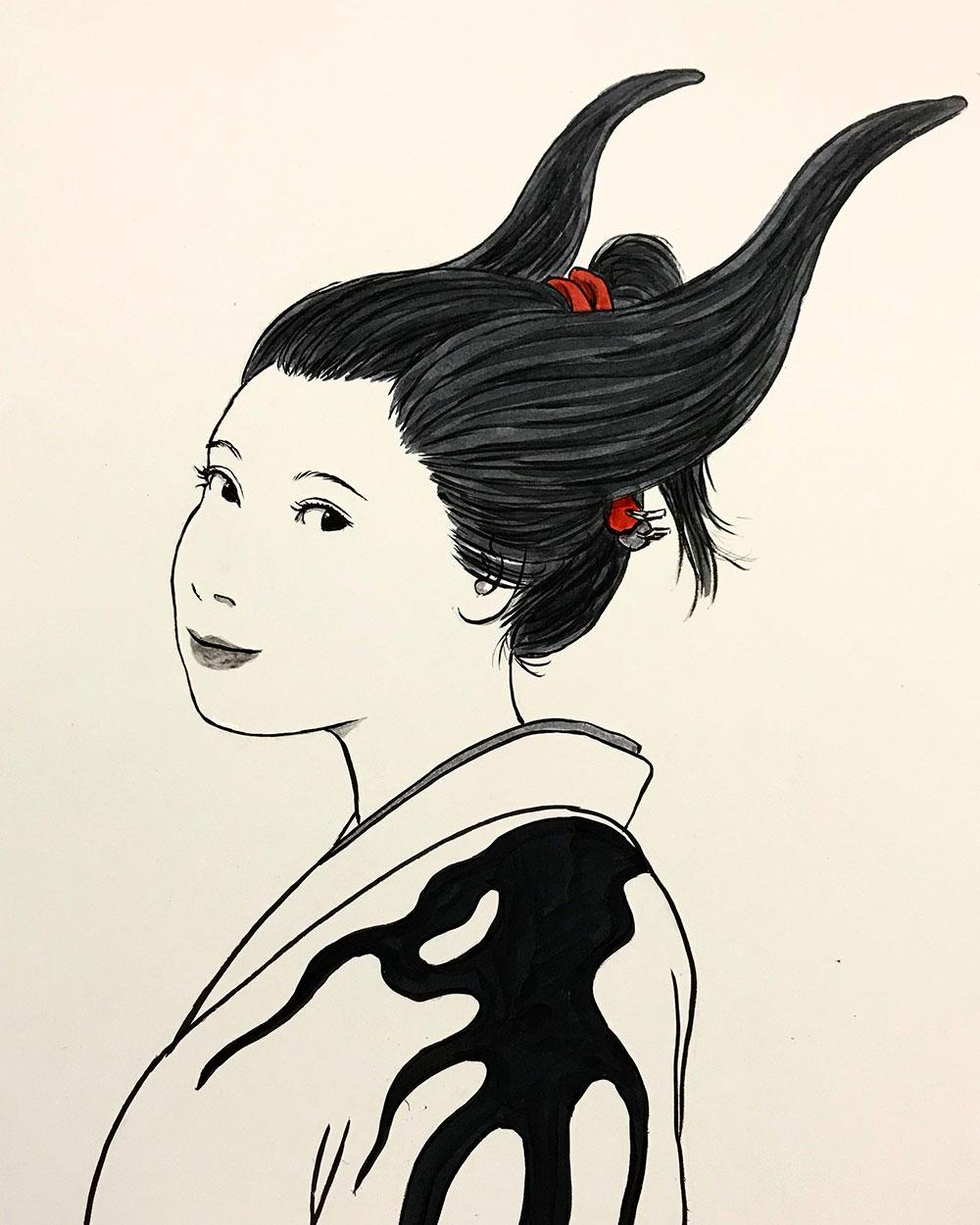 新しい日本髪 NIHONGAMI