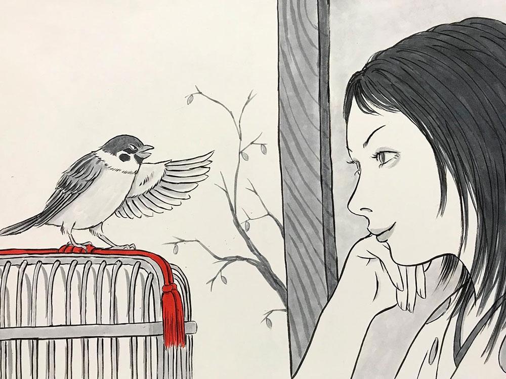 若女将とチュン太郎 OKAMI1
