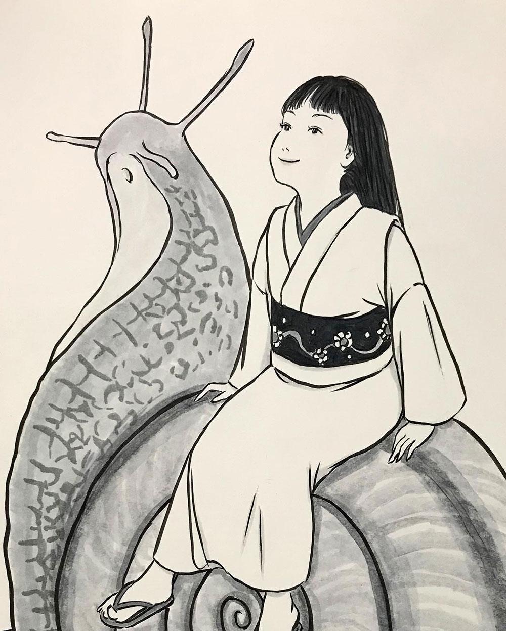 お嬢とカタツムリ DENDEN