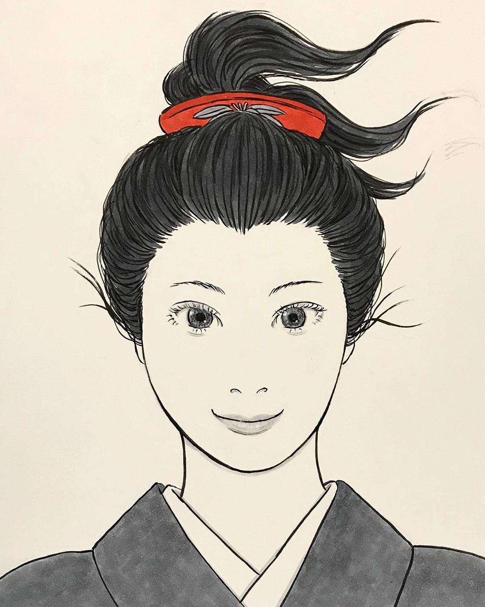 赤い櫛の女 KUSHI