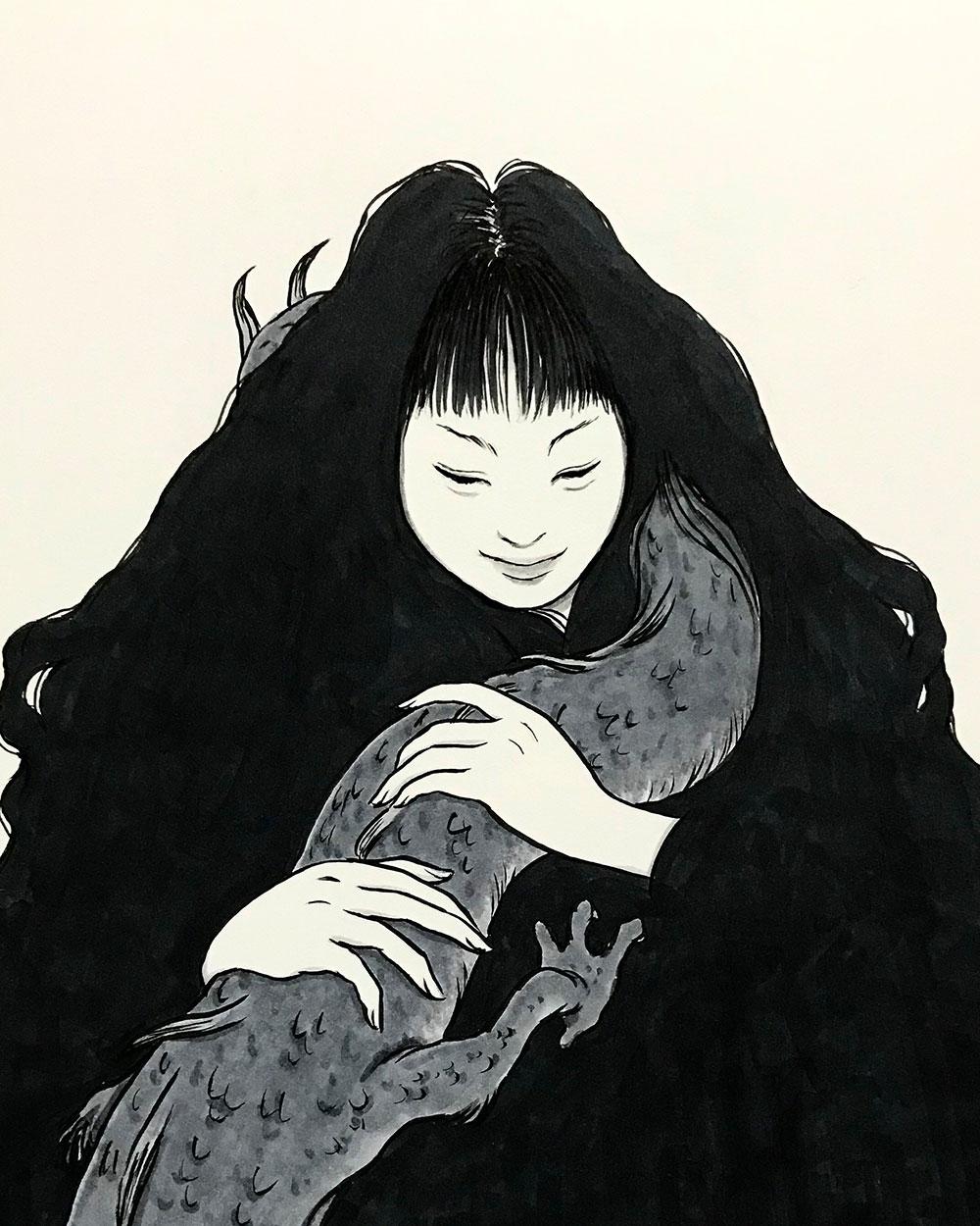 幼い龍を抱く女 RYU-DRAGON