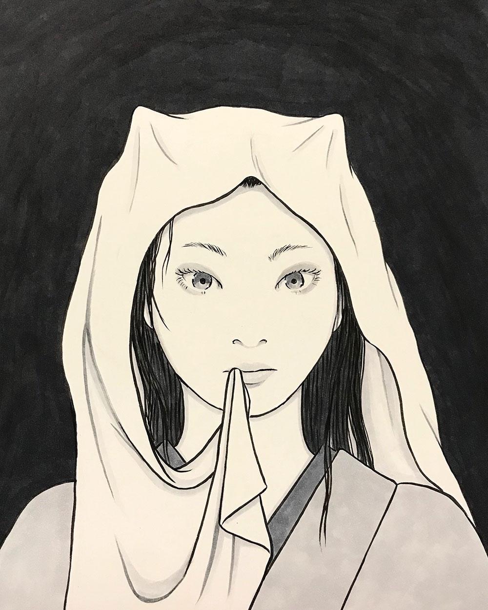 吹き流しの鬼さん FUKINAGASHI
