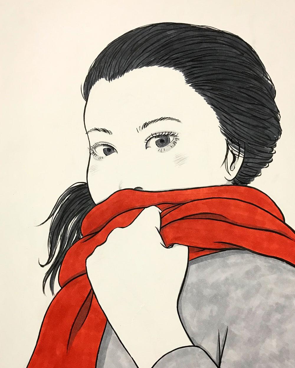 赤い襟巻の女 ERIMAKI