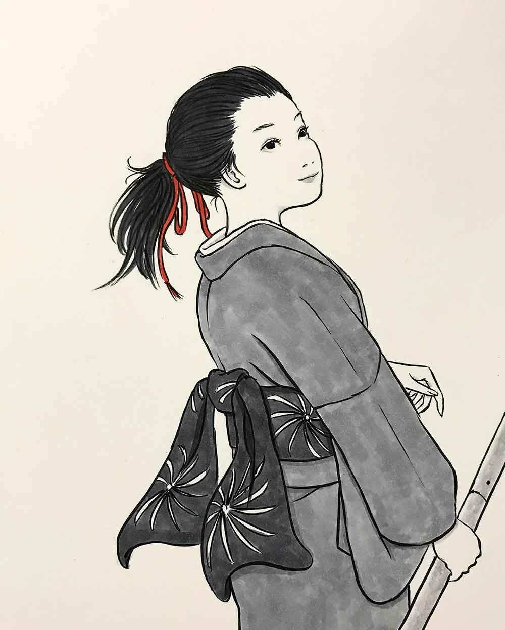 刀を持つ女 KATANA