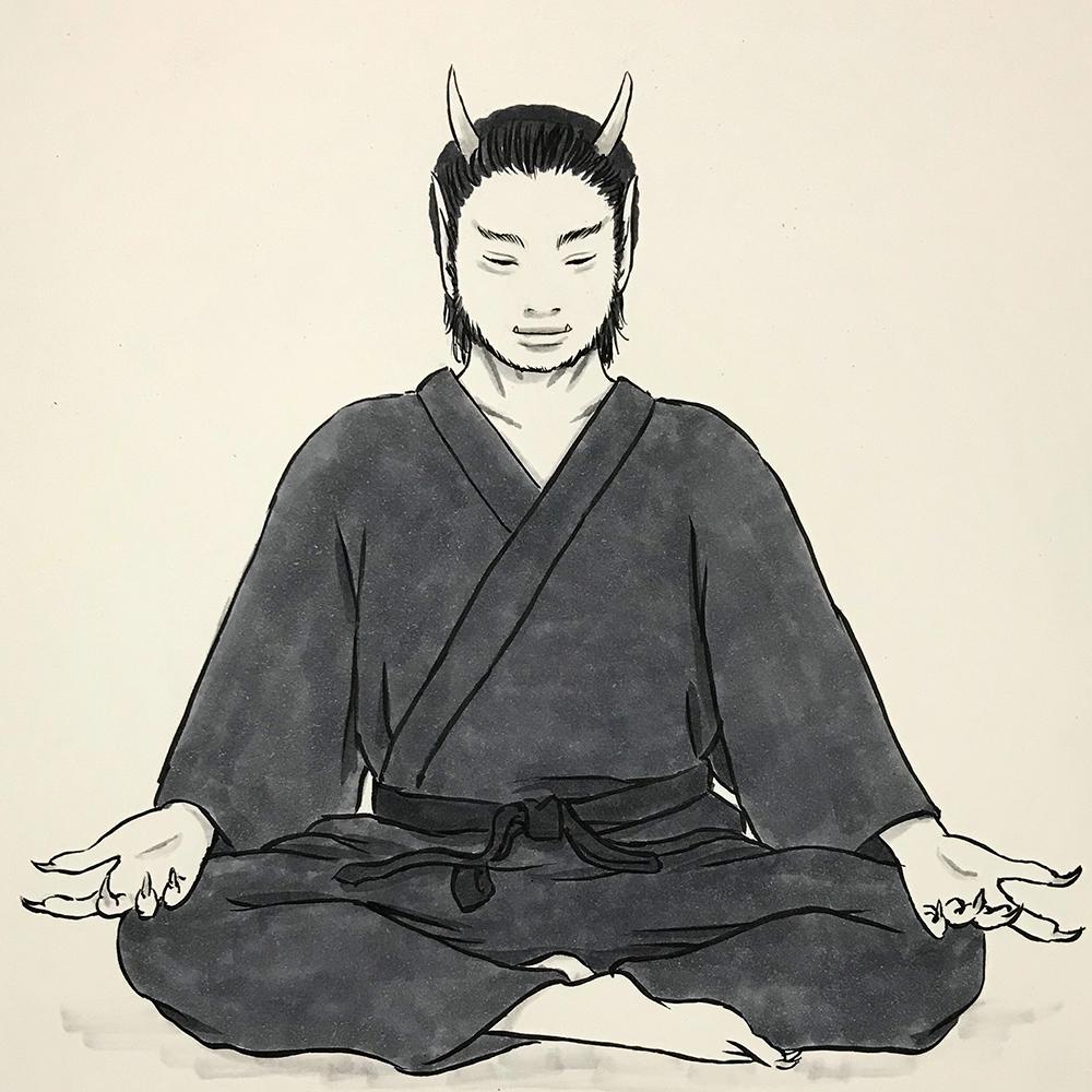 瞑想する鬼 ONI