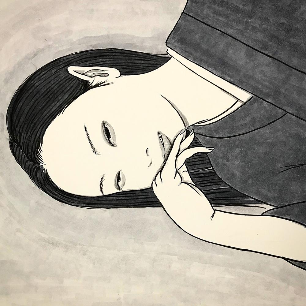 横向きの女 YOKOMUKI