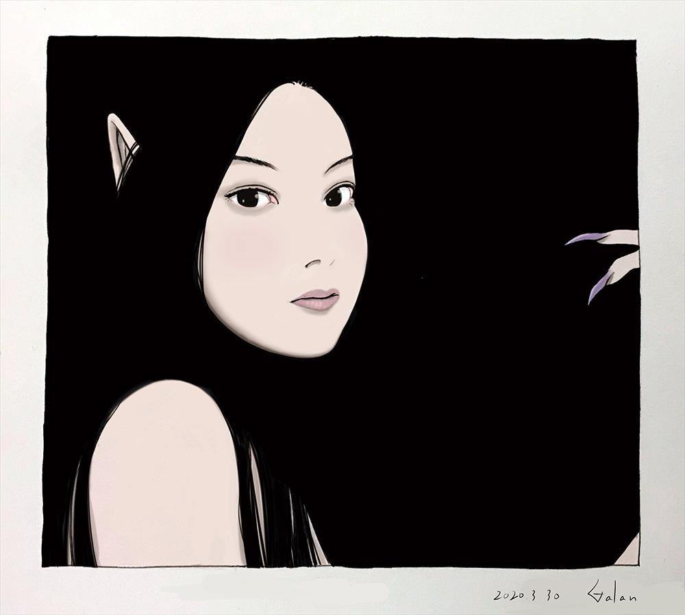 背景黒で一枚(color) BLACK