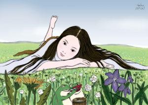 里山の大きなお嬢(color) FLOWERS