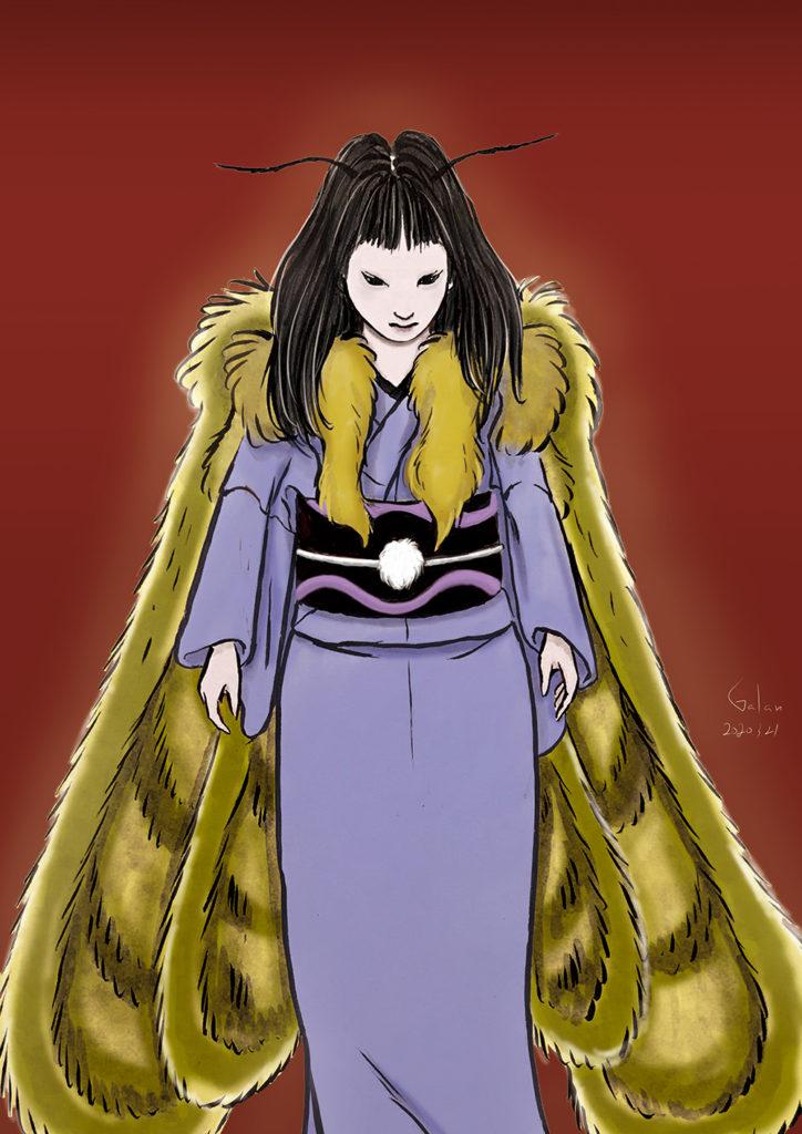 毒蛾のイメージ(color) DOKUGA