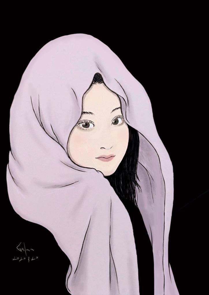 吹き流しのお姉さん(color) FUKINAGASHI