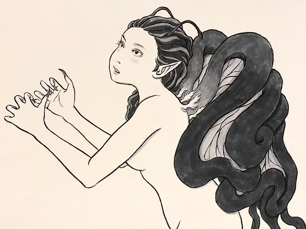 蝶の羽化(改) UKA
