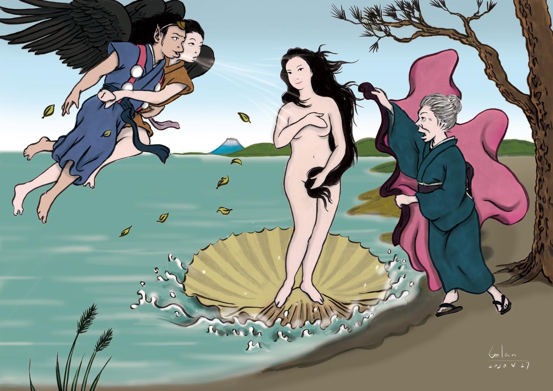 和風「ヴィーナスの誕生」 VENUS