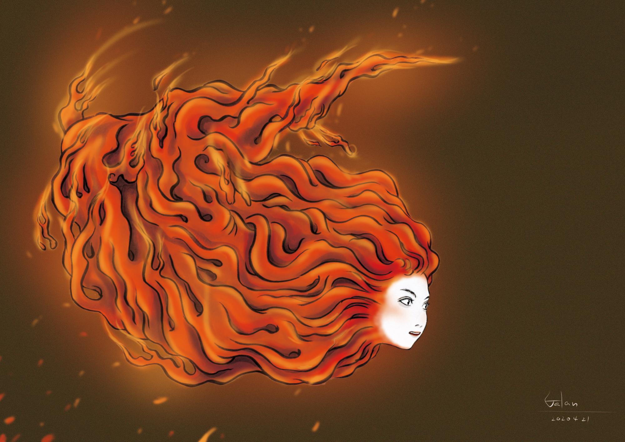 炎の妖怪2(color) HONO