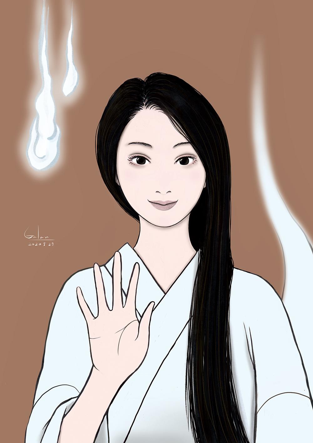 おしづの笑顔(color) OSHIZU