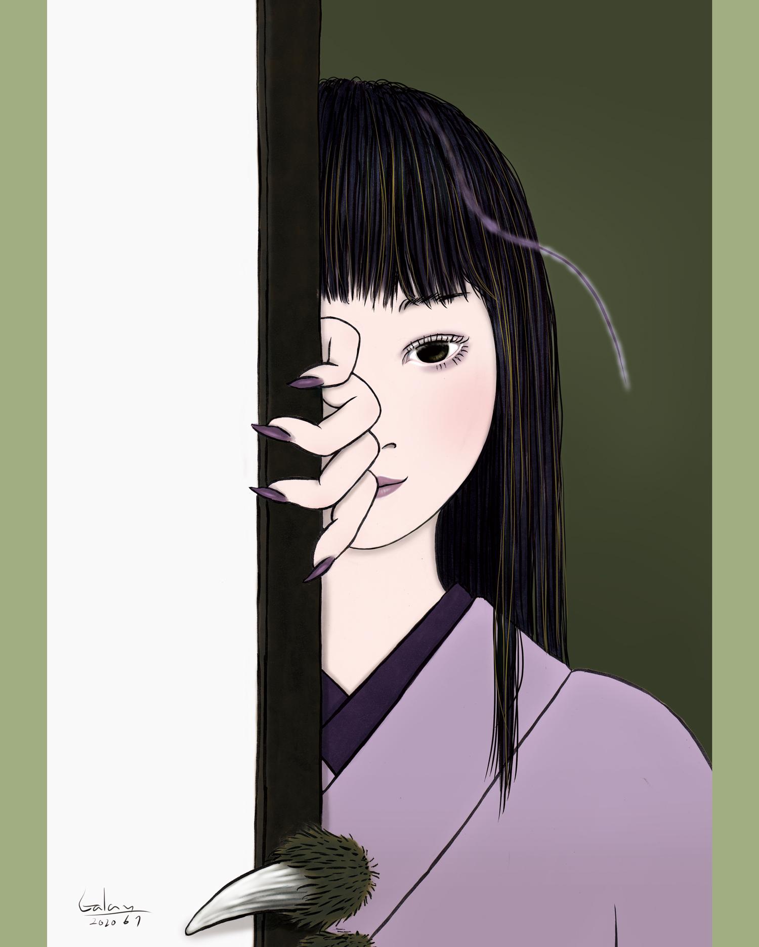 襖の怪(color) FUSUMA
