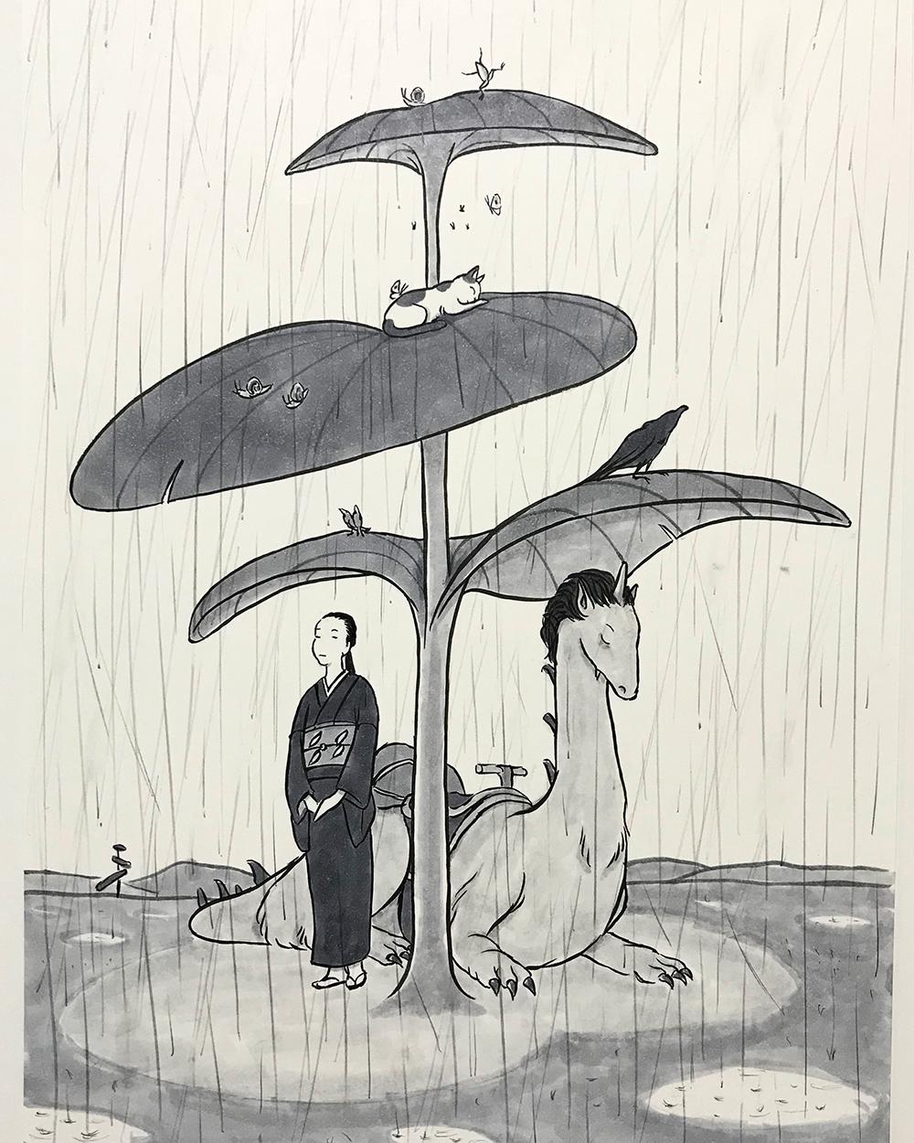走竜と雨宿り AMAYADORI