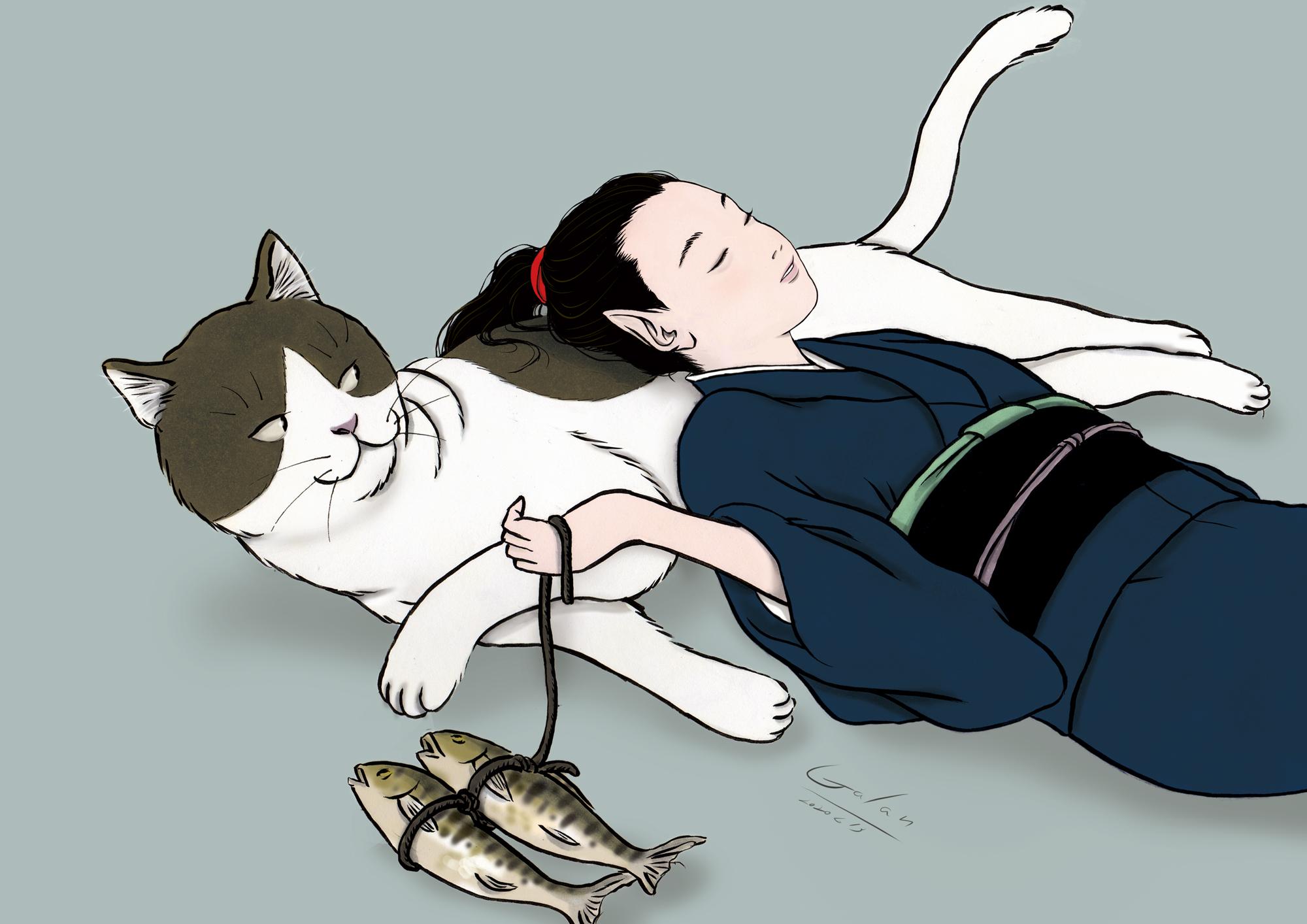 黒葉と大猫(color)KARASU