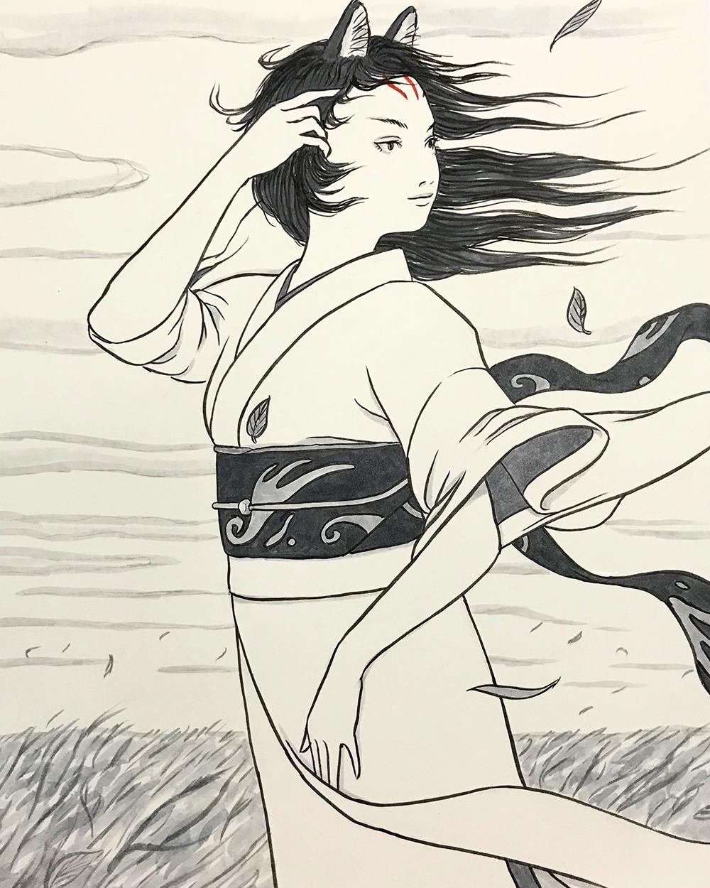 風の中のおこん KITSUNE