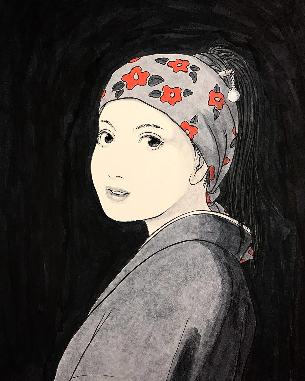 真珠の髪飾りの少女 VERMEER