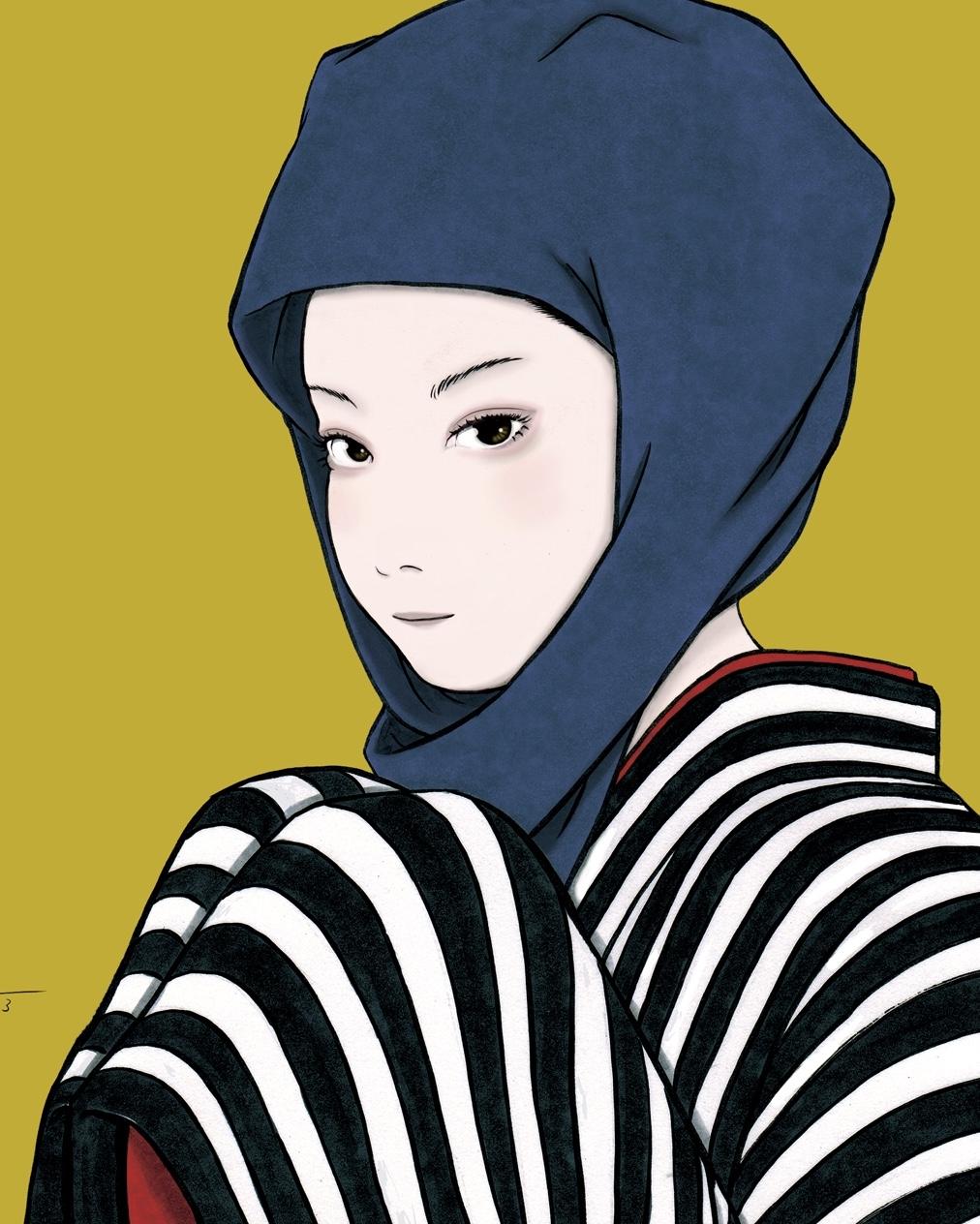頭巾を被る女(color) ZUKIN