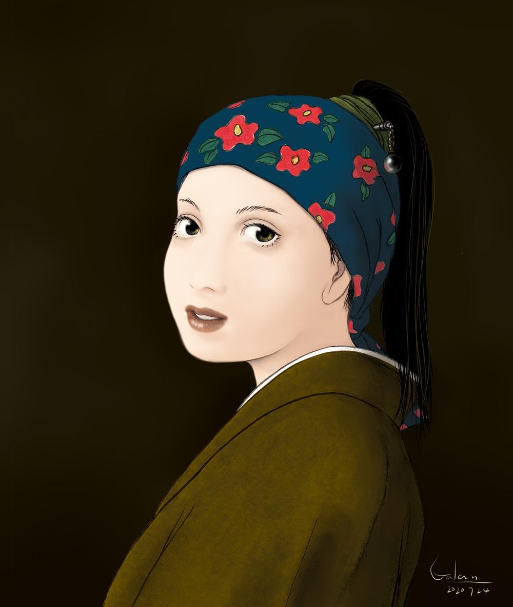 真珠の髪飾りの少女(color) VERMEER