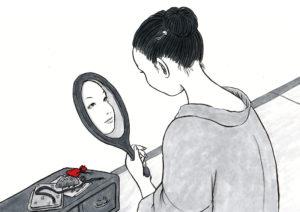 手鏡をも持つ女 TEKAGAMI