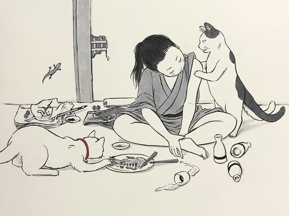 女絵描き GUDENGUDEN