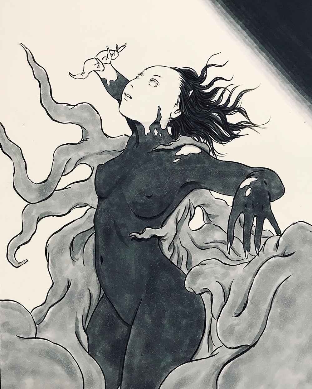 暗闇の女と謎の光 KURAYAMI