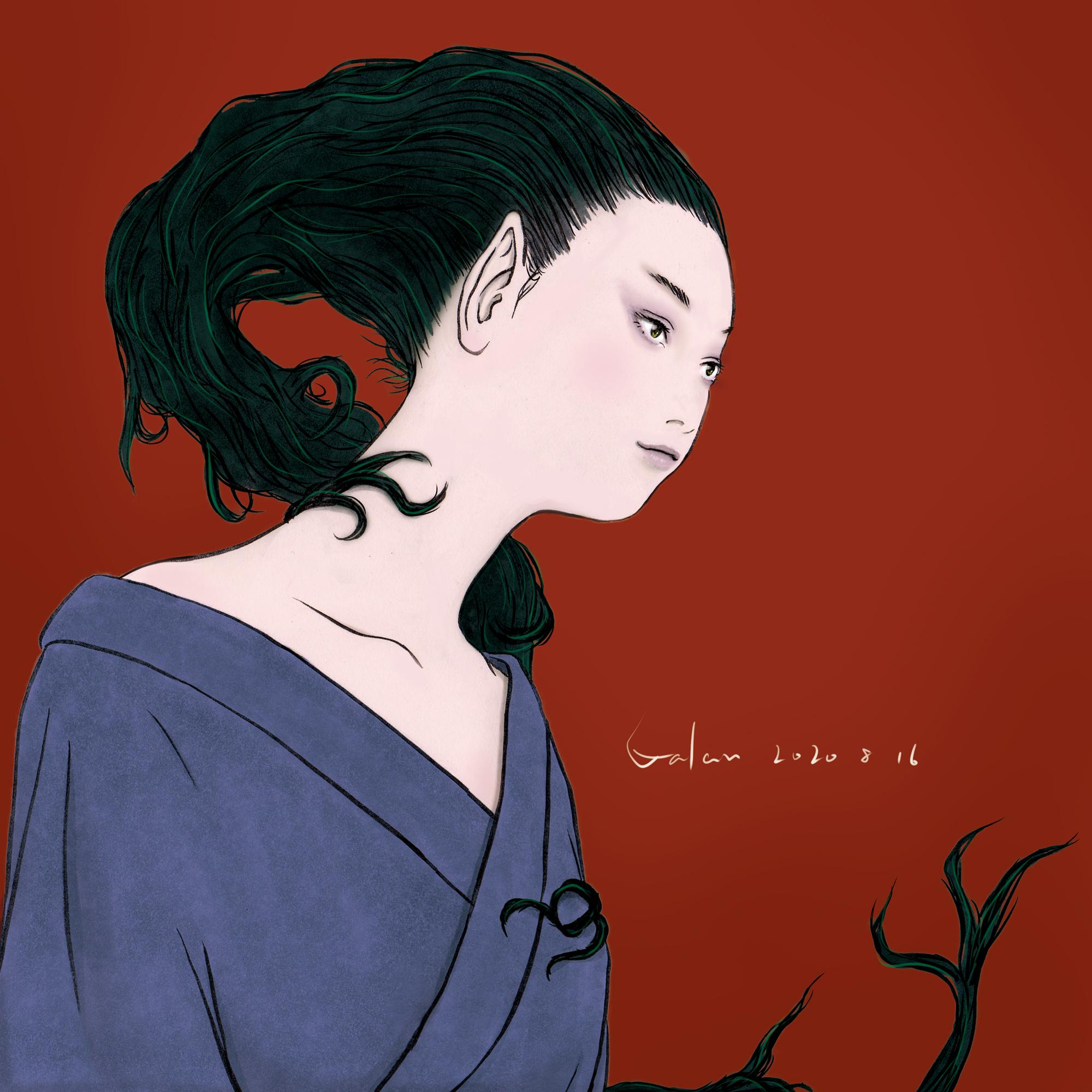 髪妖怪(color) KAMI-YOKAI