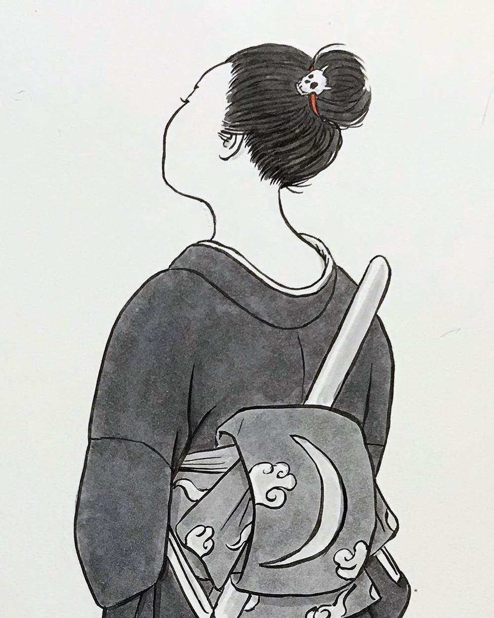 月代の後ろ姿 TSUKIYO