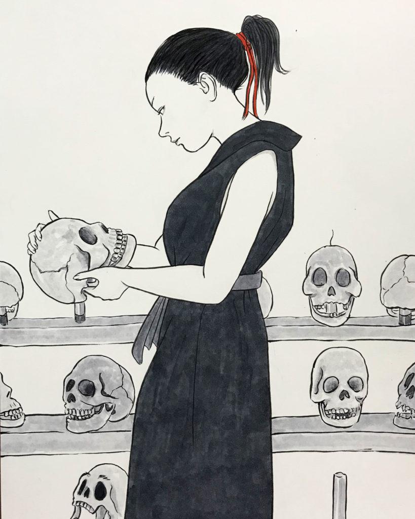 頭蓋骨の練習 GAIKOTSU