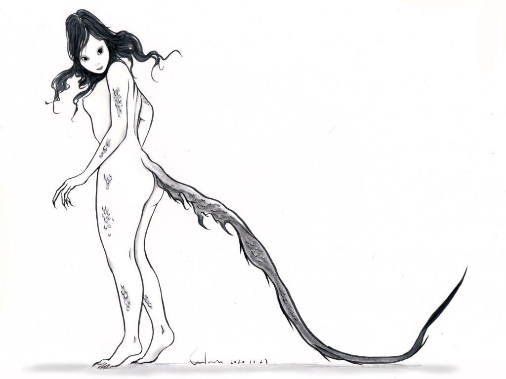 尻尾の長い妖怪-shippo