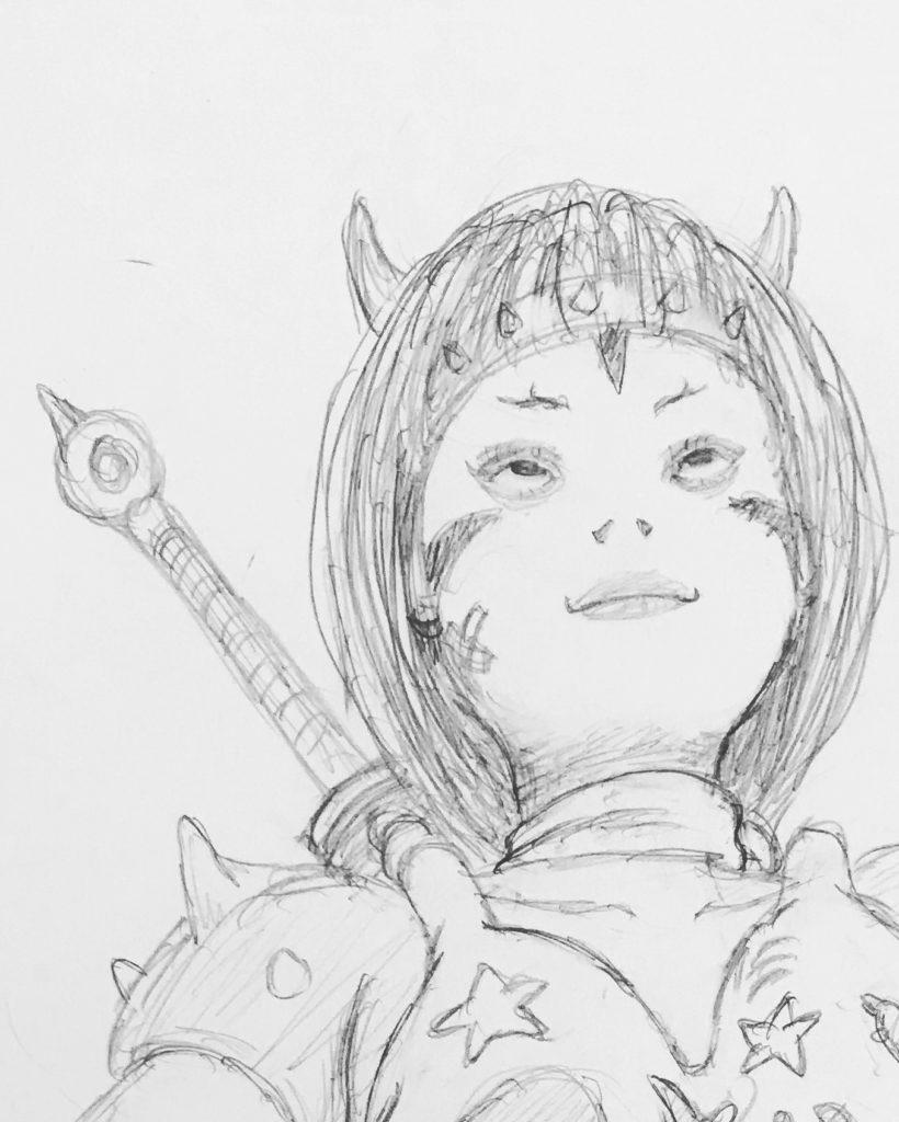強い鬼姫(下描き) ONIHIME