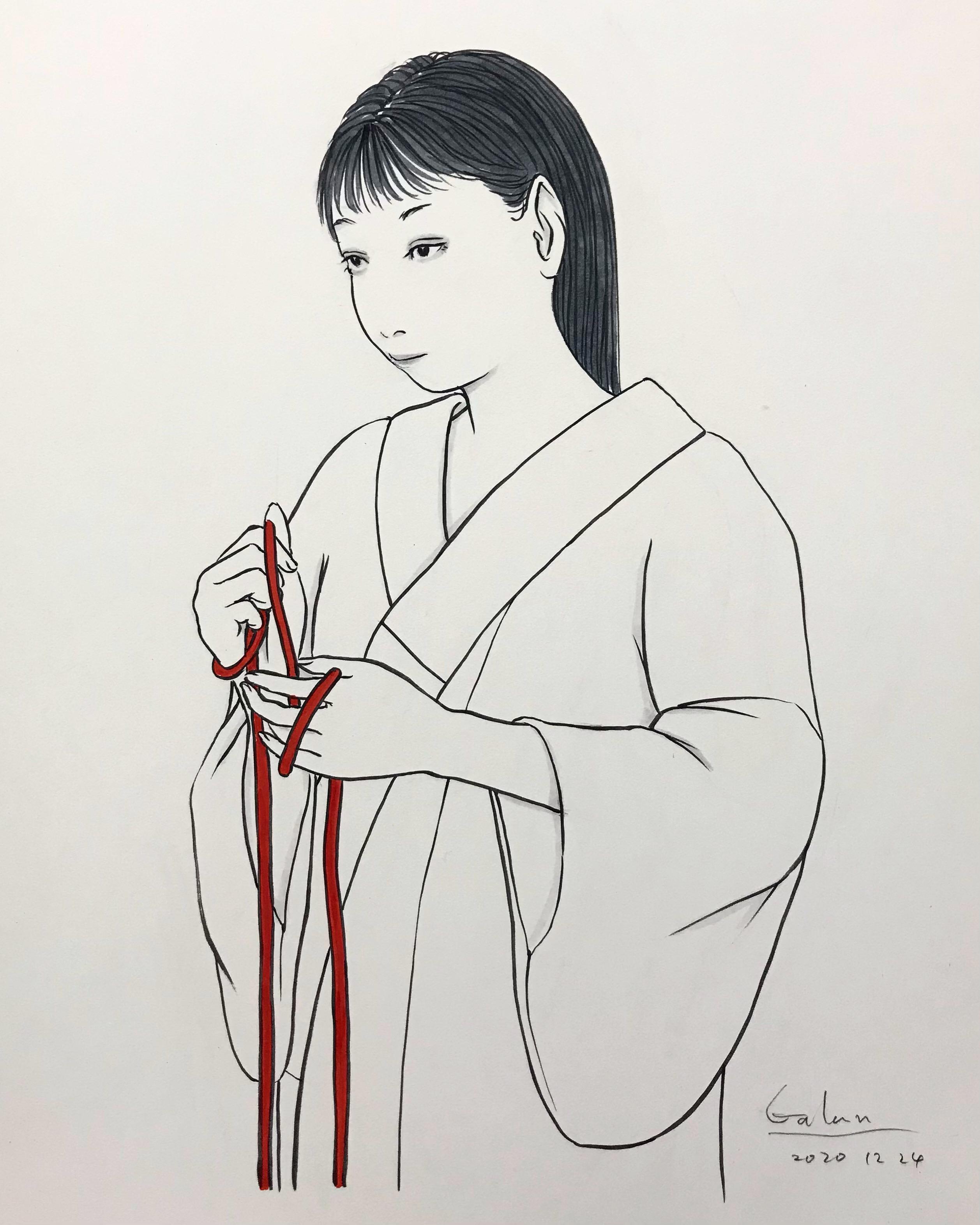 紐を持つ女 HIMO