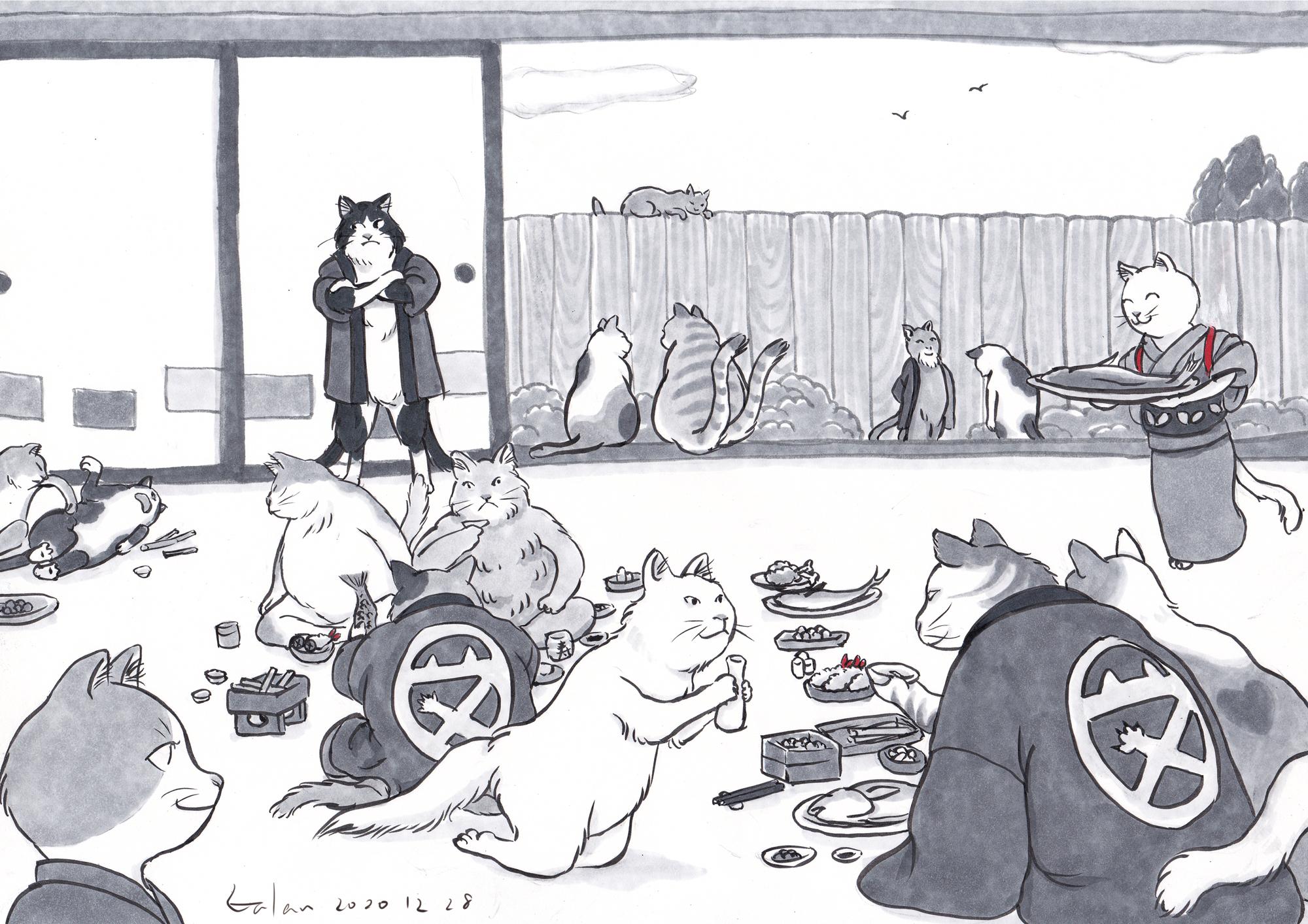 恒例猫又一家忘年会 NEKOMATA