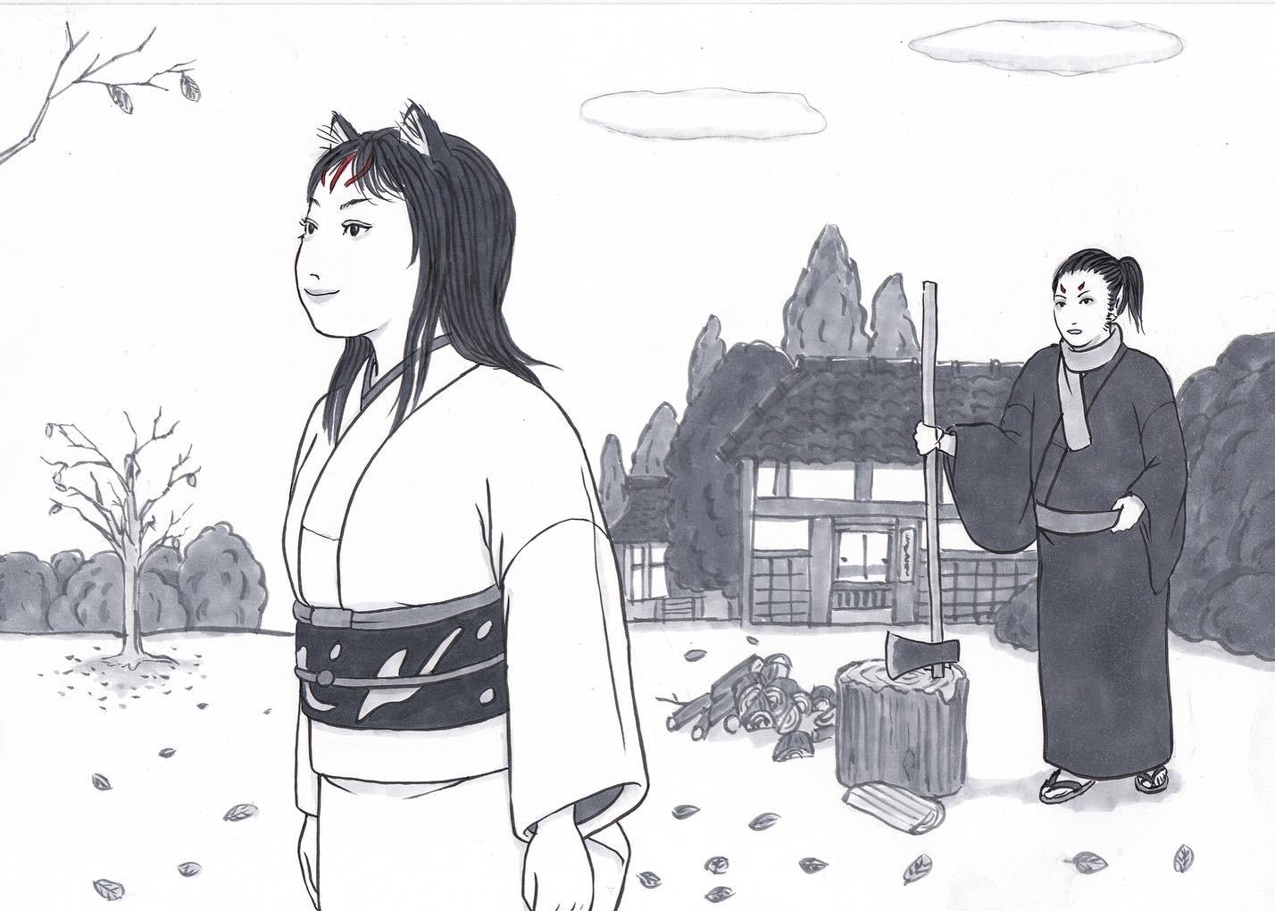 2021正月おこんと巫女さん OKON&MIKOSAN