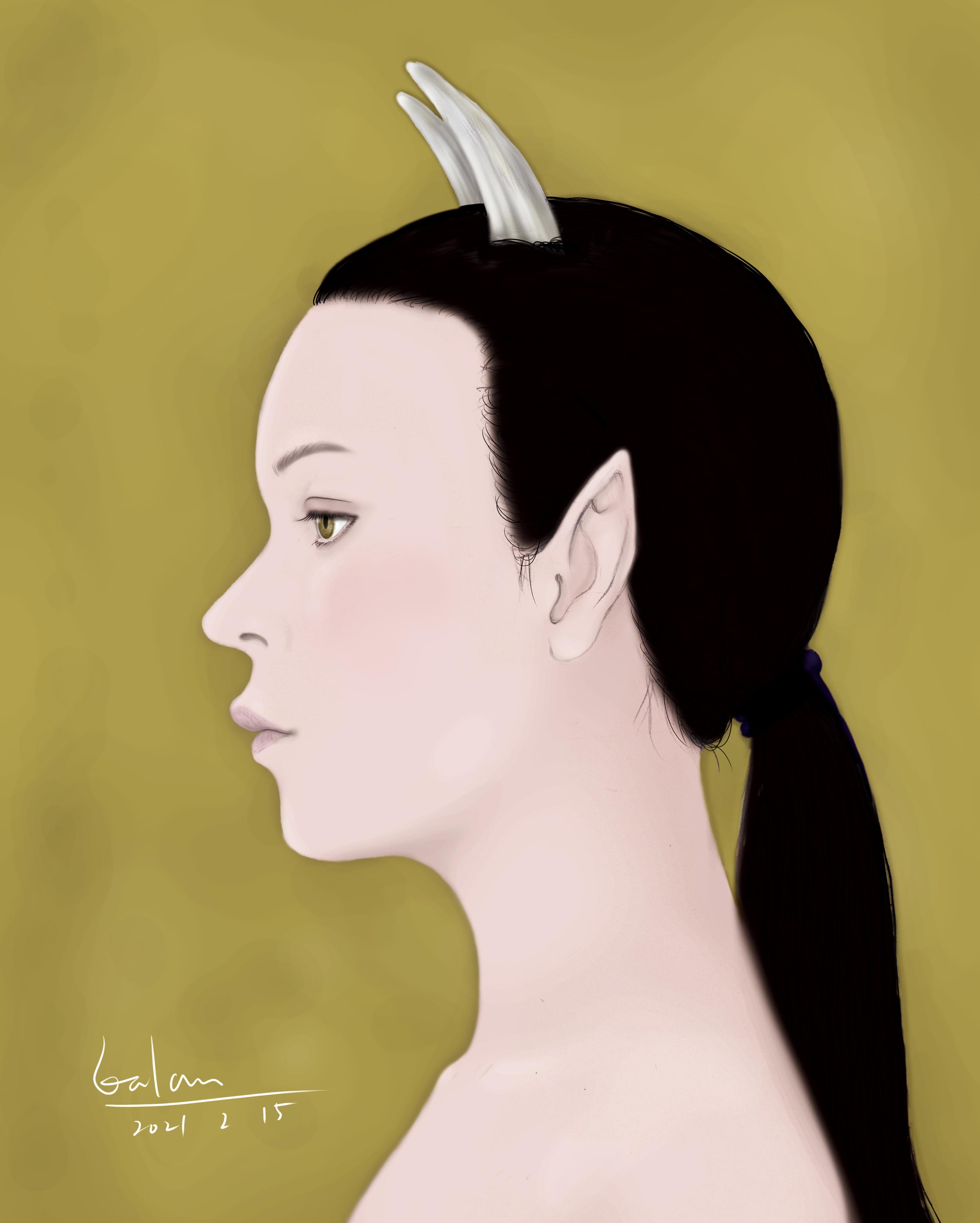 雷神の奥さん(横顔のまとめ)RAIJIN