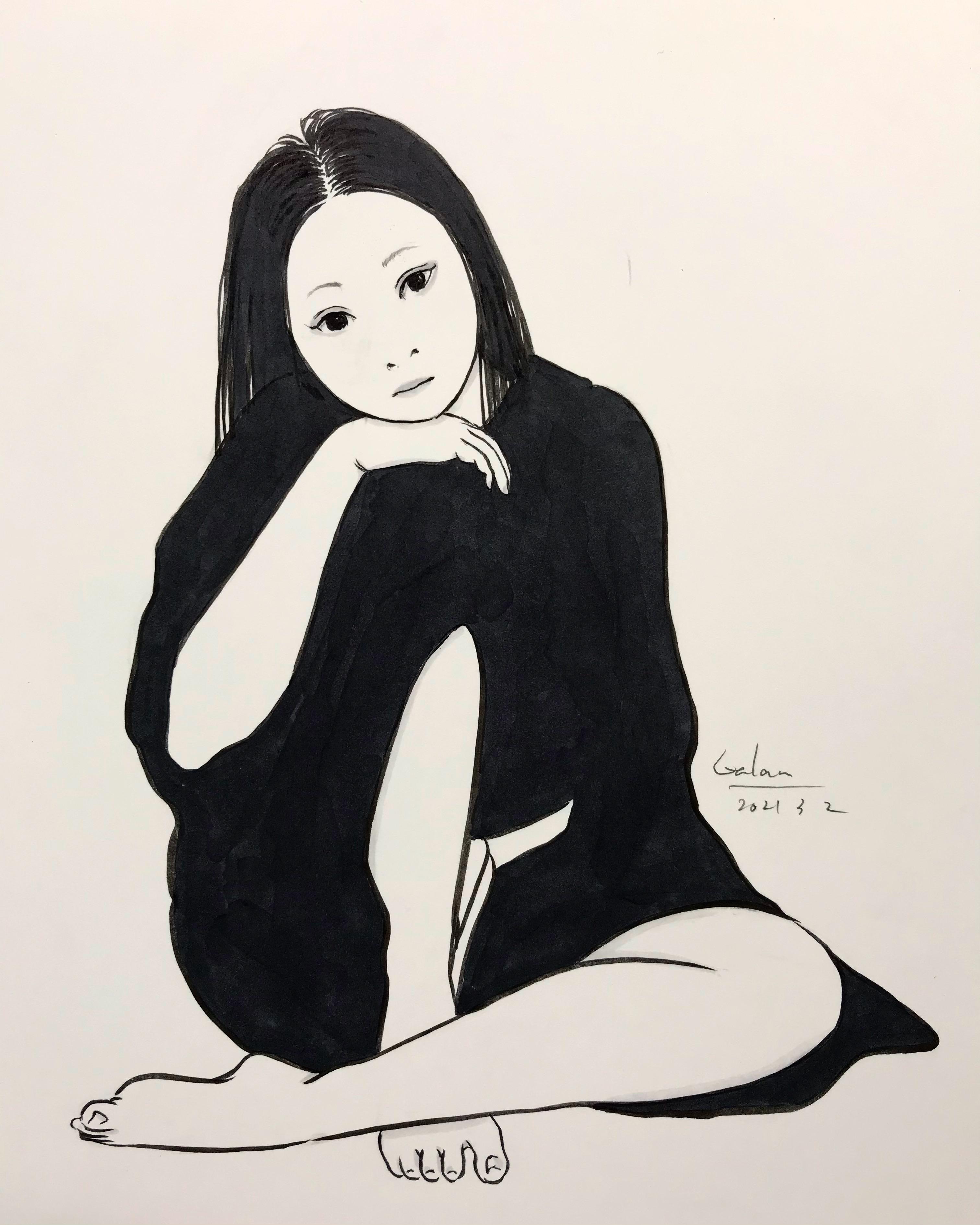 立膝の女 TATEHIZA