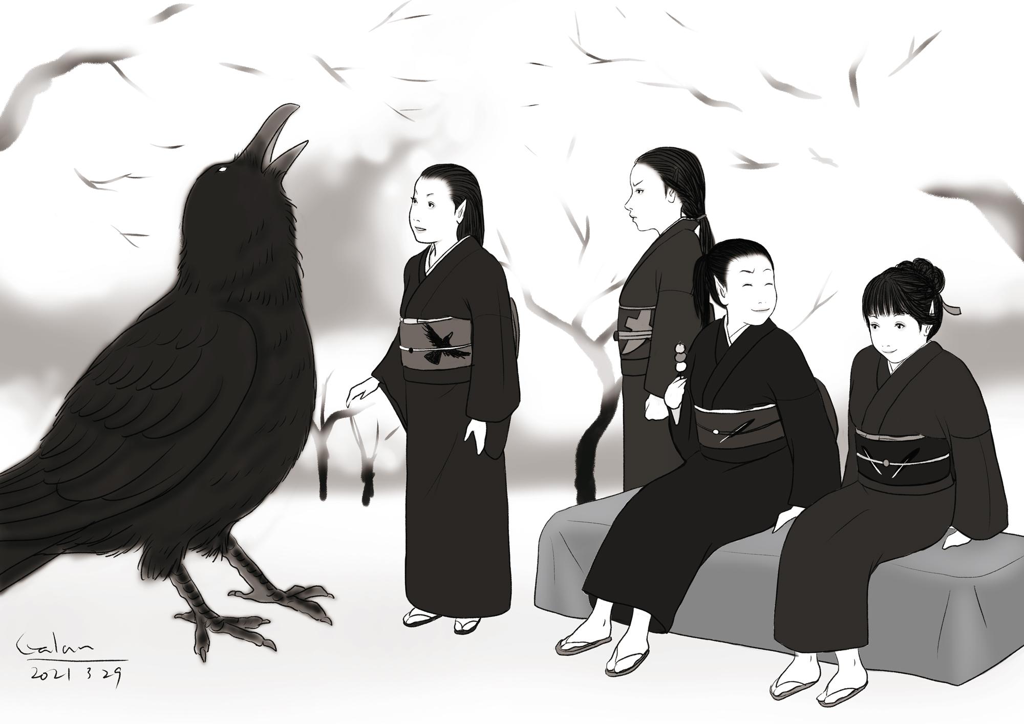 キャラクター紹介 カラス一家 KARASU