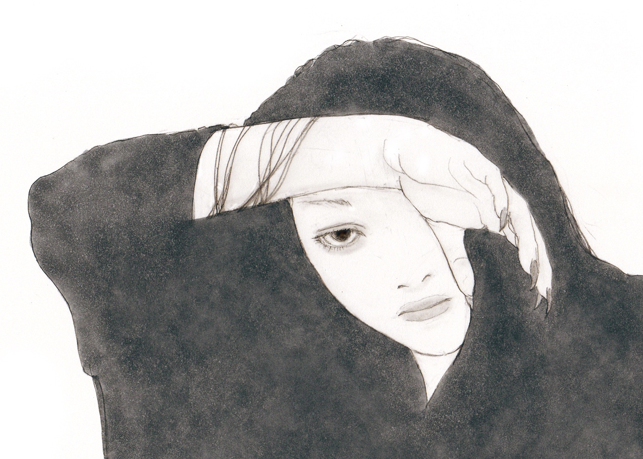 片目で見る女 KATAME