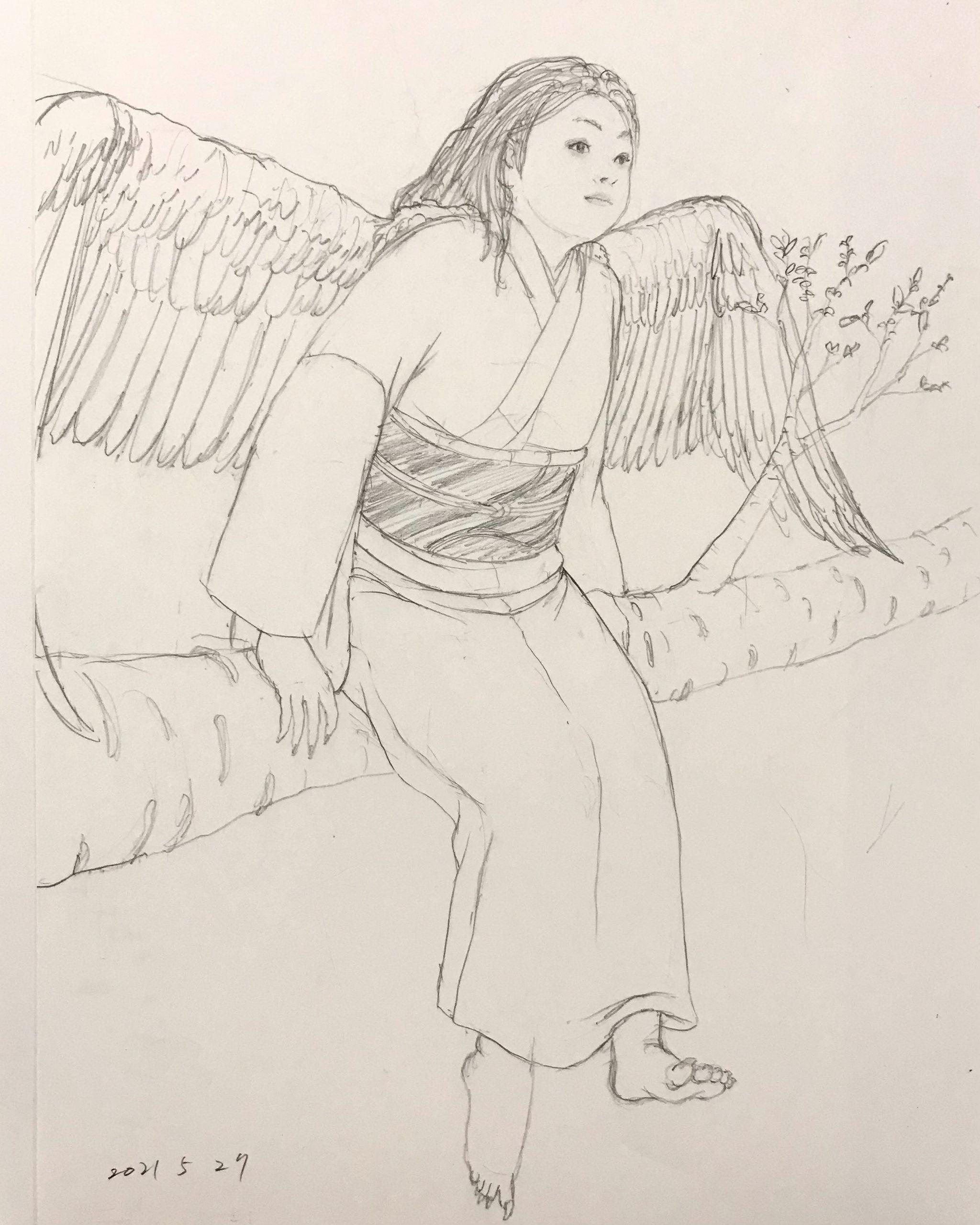 白い鳥と桜 SHIROITORI